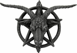 Large Stone Effect Baphomet Horned God Wall Plaque Goat of Mendes