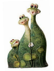 Novelty Comical Green Frog Family Figurine Figure Statue Sculpture Frogs