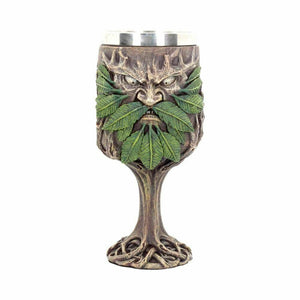 Large Green Man Goblet Pagan Wiccan Supplies Chalice Altar Ornament 20cm