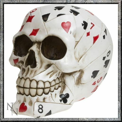 Nemesis Now Dead Mans Hand Skull Playing Cards Box Skeleton New And Boxed