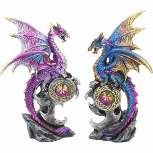 Nemesis Now Realm Protectors Figurines Set of Two Fantasy Dragon Ornaments