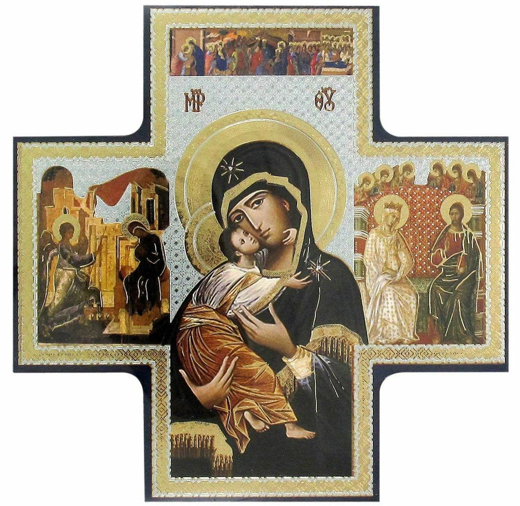 Icon of Our Lady and Child Religious Ornament Wall Art