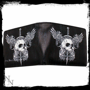 Skull And Wings Mens Wallet 11cm Nemesis Now