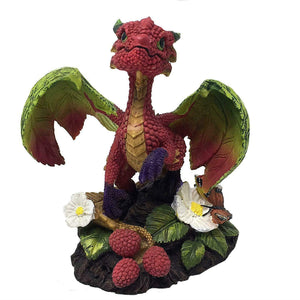 Cute Raspberry Dragon Statue Sculpture Figure Dragons Lover Gift Idea