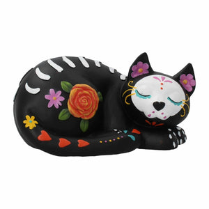 Day of the Dead Sugar Kitty Figurine Cat Sculpture Ornament