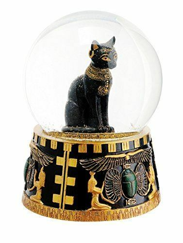 Egyptian Style Bast Cat Snow Globe Figurine Ornament