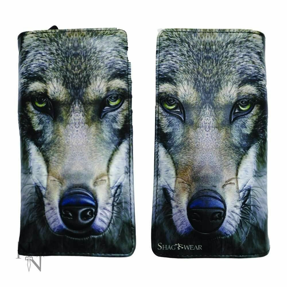 Portrait of a Wolf Purse Embossed Wallet Wolves Lovers Ideal Gift