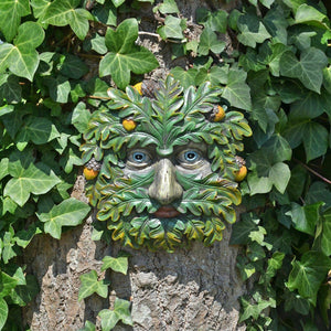 Tree Ent Face Wall Plaque Garden Ornament Greenman Wicca Pagan Ornament