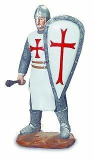 Templar Knight Armed with Mace and Shield Figurine Statue Ornament
