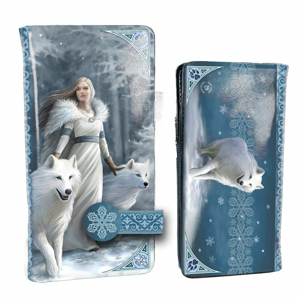 Winter Guardians Embossed Purse Wolves Gothic Gift Wallet Clutch Bag