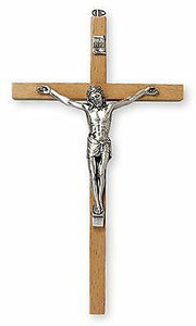 "Lovely Quality Small Beech Wood Crucifix 5"" Religious Ornament"