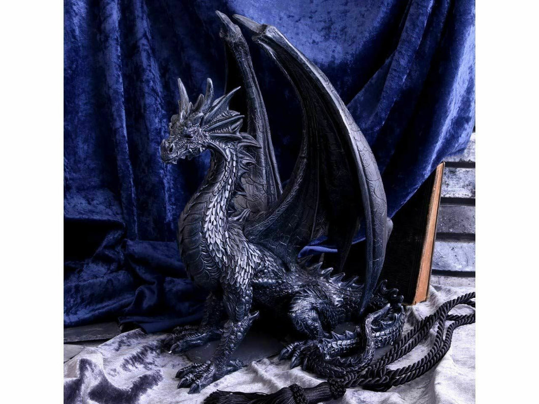 Black Wing Gothic Dragon Figurine Statue Fantasy Dragons Sculpture 37cm