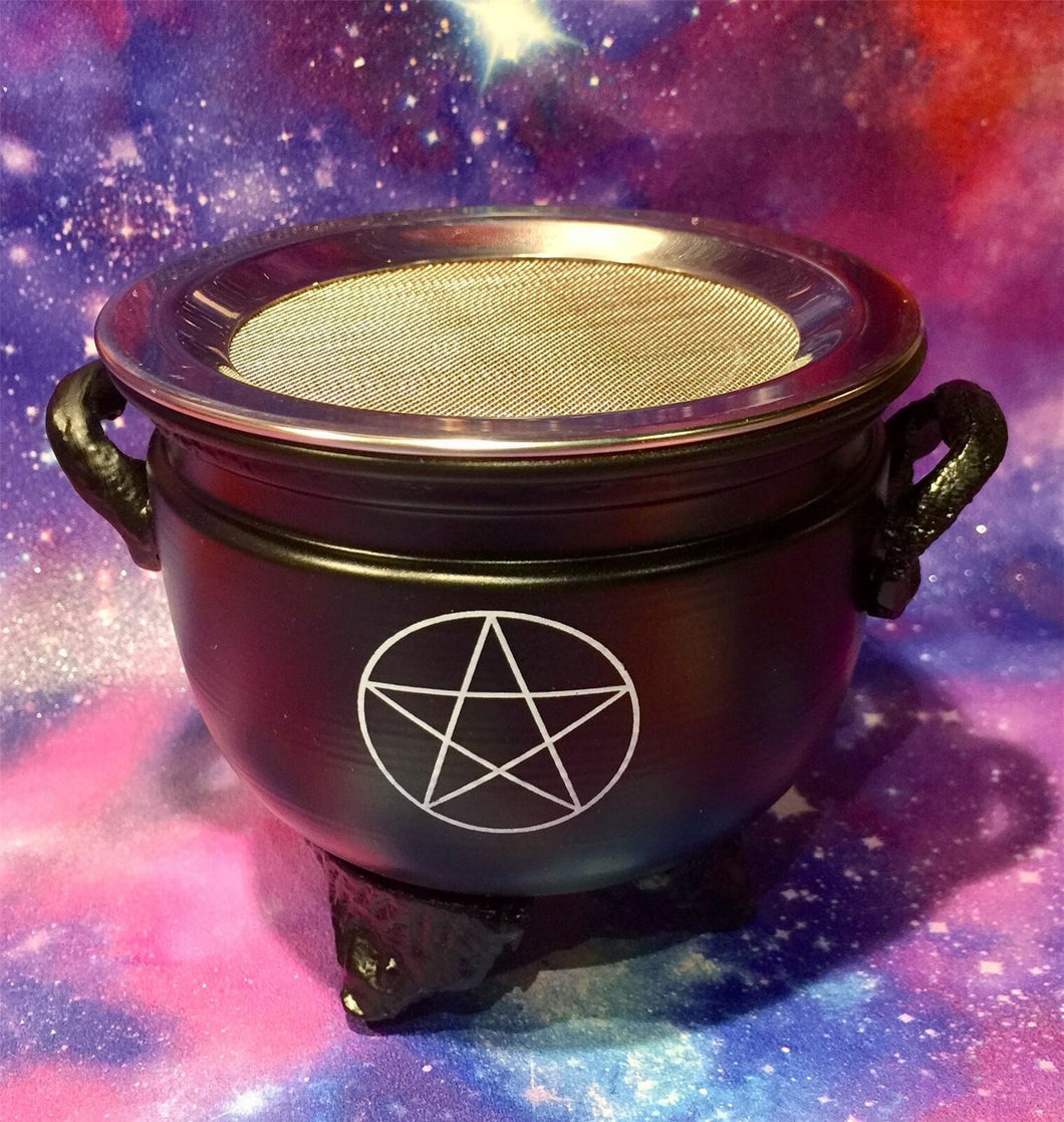Pentagram Metal Incense Resin Burner Wiccan Pagan Altar Pentacle Symbol