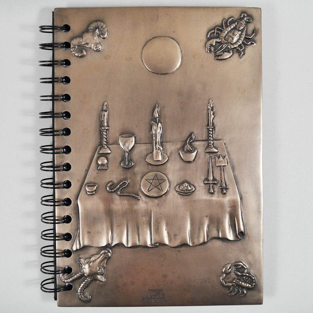 Witchcraft Book of Shadows Bronze Effect Journal Spellbook Diary