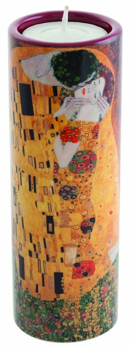 John Beswick Klimt The Kiss Ceramic Art Tea Light Holder