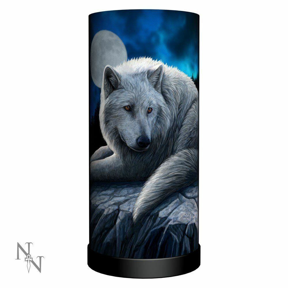 Lisa Parker Guardian Of The North Wolf Lamp