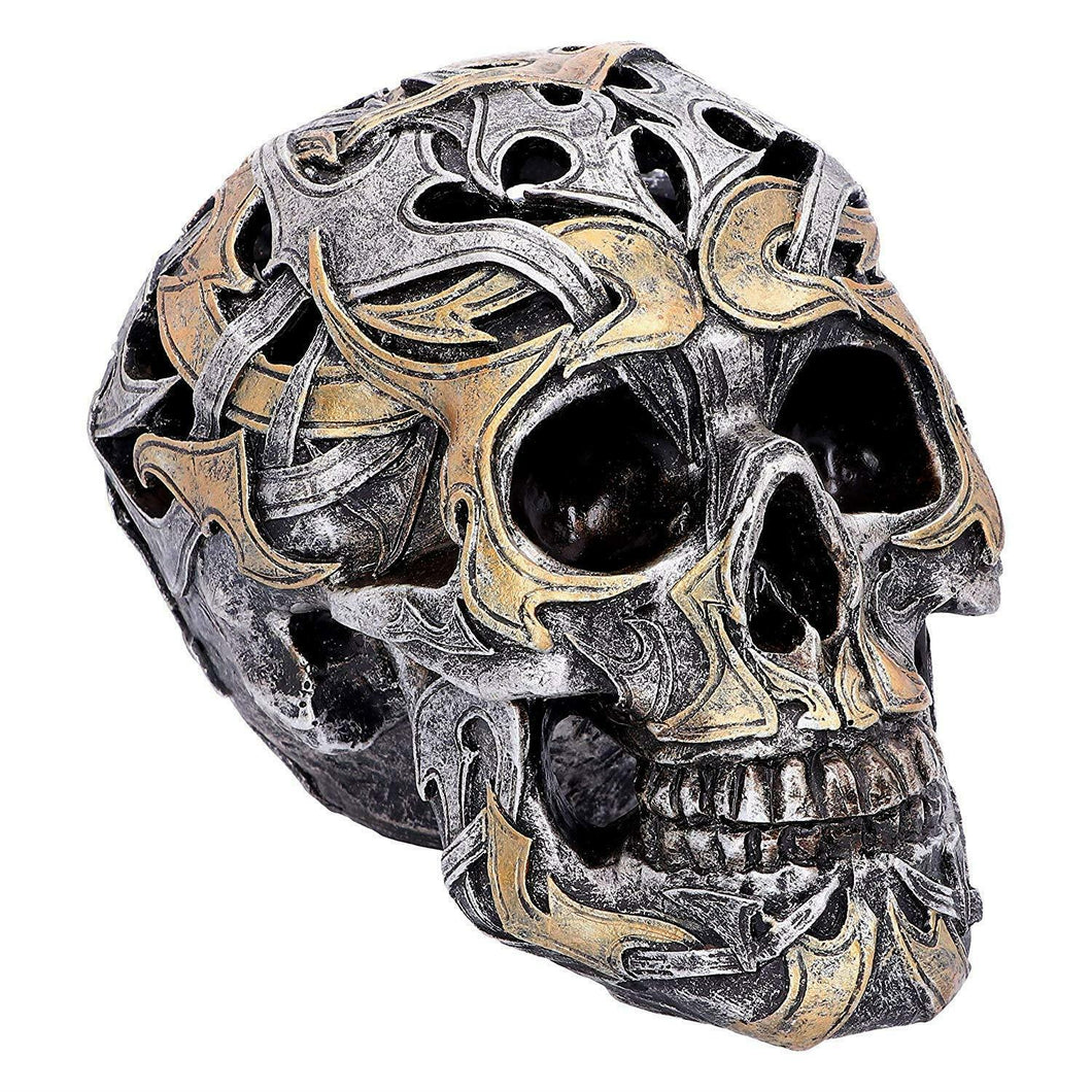 Novelty Tribal Skull Gothic Style Sculpture Statue Ornament