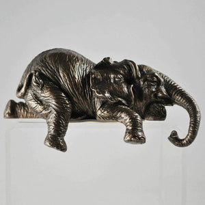 Elephant Shelf Sitter Bronze Sculpture African Figurine Statue Figure Gift