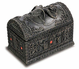 Stone Effect Baphomet Horned God Trinket Box Secrets Stash Pagan Wiccan Ornament