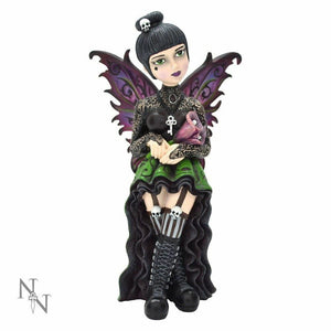 Orchid Little Shadows Goth Fairy Girl Figurine By Nemesis Now