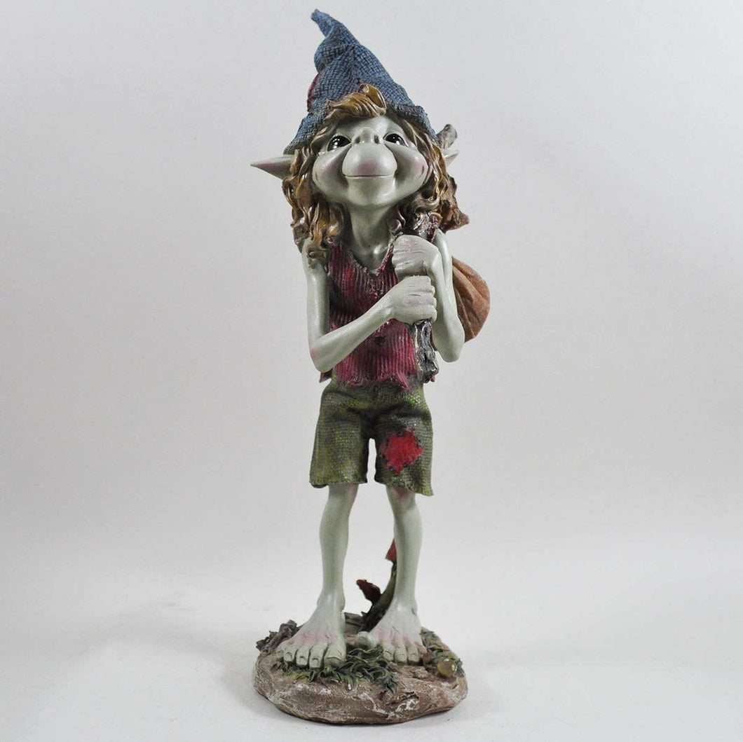 Large Standing Pixie Garden Ornament Lawn Decor Sculpture Statue Figurine