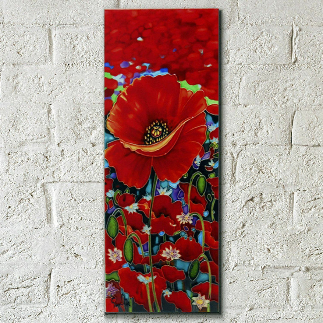 Blazing Red by Simon Bull Decorative Ceramic Picture Tile 4x12
