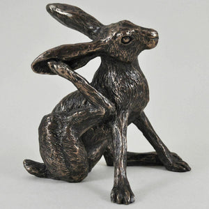 Bronze Hare Sculpture Statue Ornament Hares Gifts Rabbit Figure Ornament