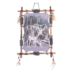 Wolves Canvas Wall Art Picture Decorative Wolf Plaque Gifts