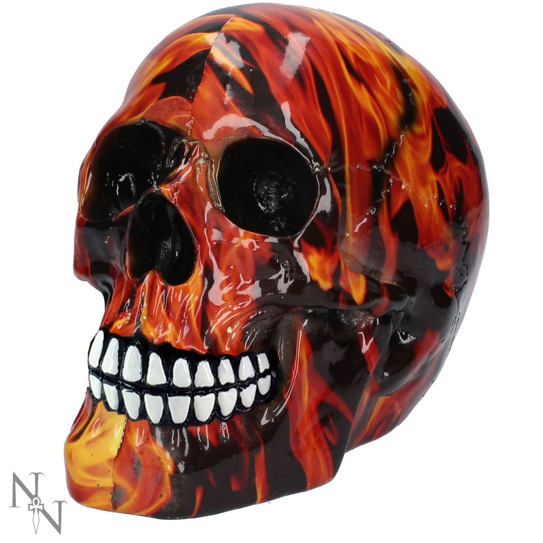 Nemesis Now Inferno Skull Figurine 8cm Gothic Red Ornament