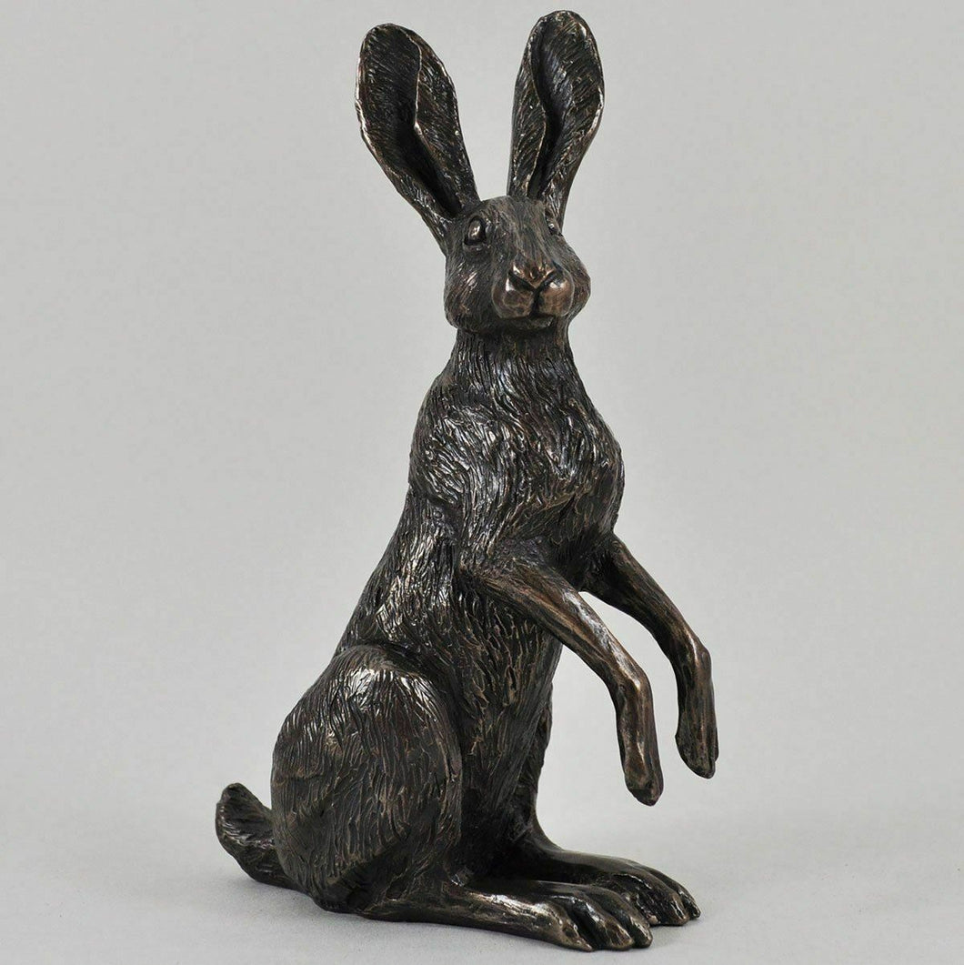 Bronze Hare Sculpture Statue Hares Gifts Figurines Rabbit Ornament