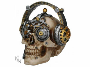 Techno Talk Steampunk Skull Skull Figurine Statue Ornament 14.5cm