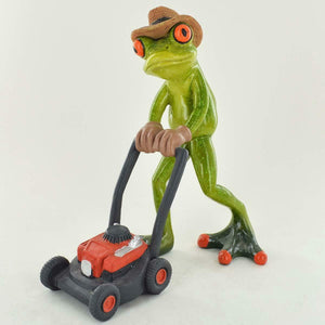 Comical Frogs Gardener Resin Frog Figurine Sculpture Ornament Gift