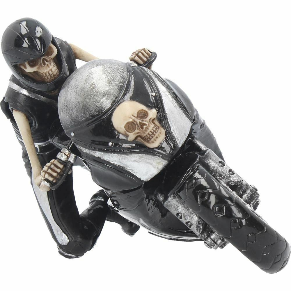 Skeleton Biker Speed Freak Grim Reaper Figurine Sculpture Ornament Statue