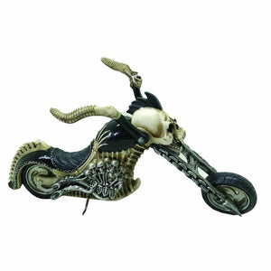 Gothic Skeleton Skull Biker Figurine Statue Ornament Home Office Decoration