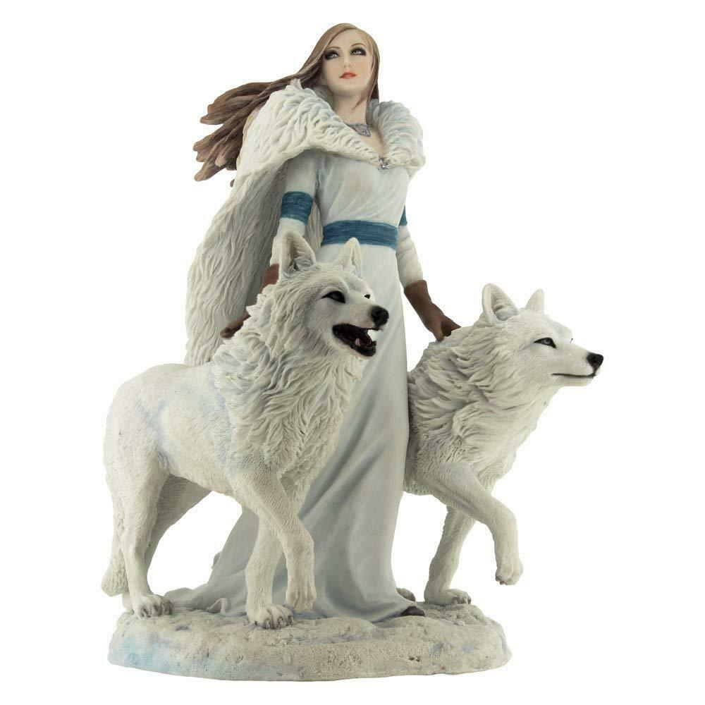 Winter Guardians Wolf Figurine Anne Stokes Sculpture Wolves Gifts Ornaments