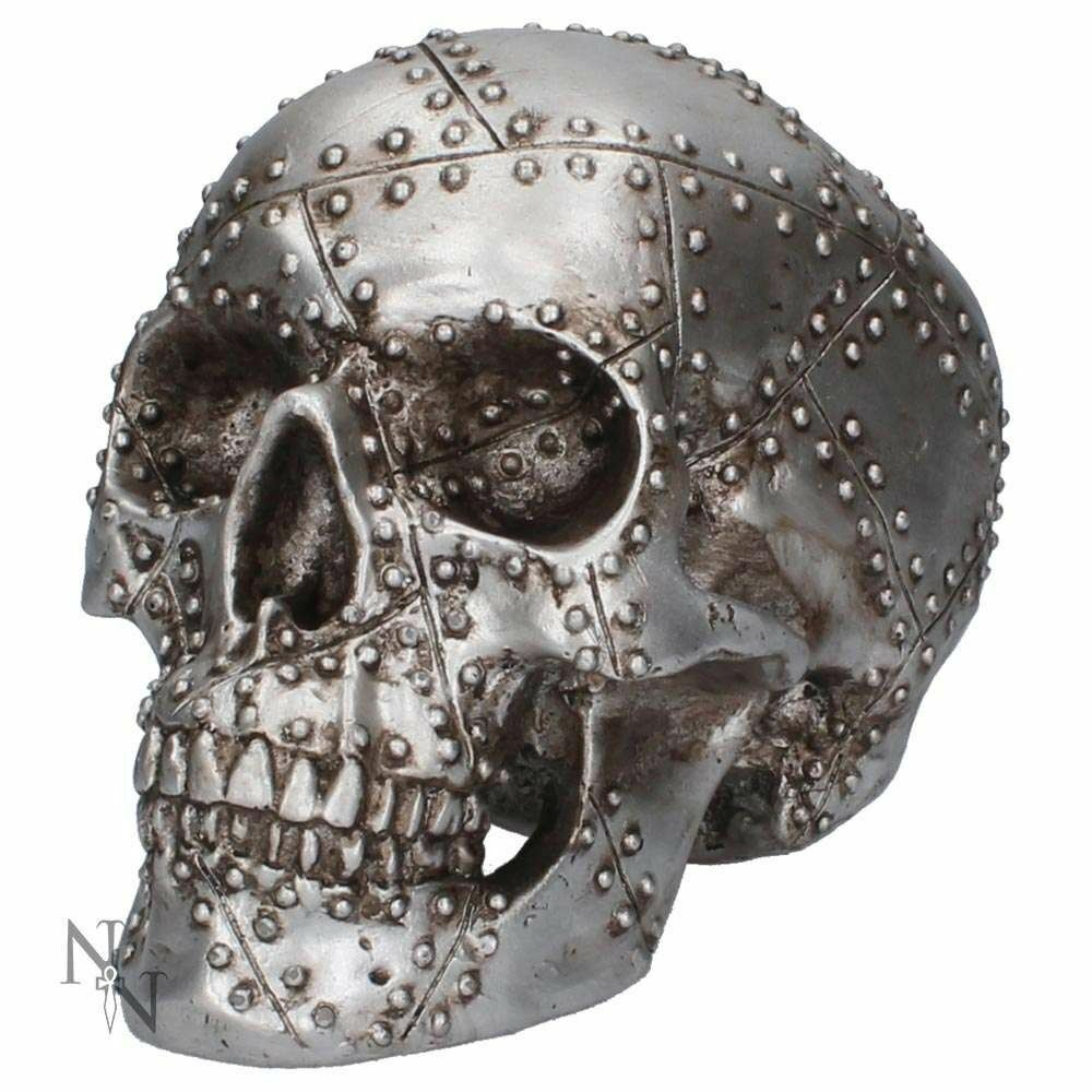 Nemesis Now Horror Rivet Head Skull Figurine Gothic Gift 19cm