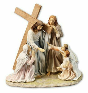 Jesus Our Lord Carrying Cross to Calvary Statue Sculpture Religious Ornament