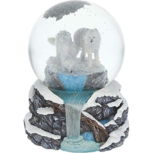 Warriors Of Winter Wolves Snowglobe Wolf Snow Storm Ornament Decoration Gift