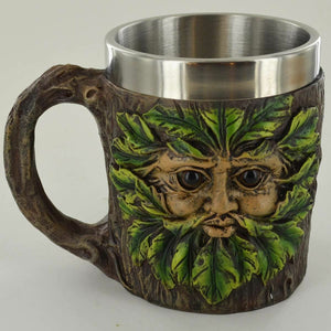 Greenman Tankard Cup or Altar Ornament Tree Man Wicca Pagan