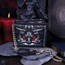 Load image into Gallery viewer, Designer Baphomet Wallet Occult Gift Bathomet Goat of Mendes