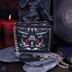 Designer Baphomet Wallet Occult Gift Bathomet Goat of Mendes