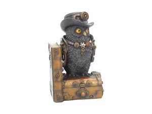 Steampunk Owl Book End Shelf Tidy for Study Office Ornament Home Decoration