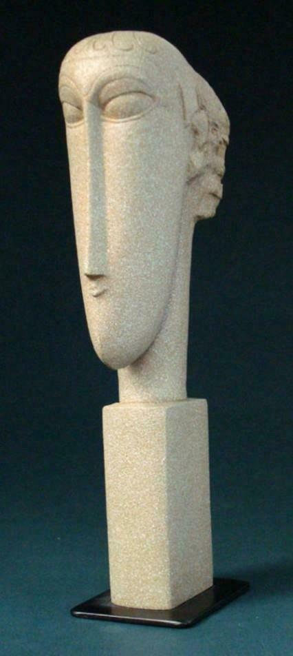Modigliani Head Sculpture Statue Bust Museum Reproduction Art