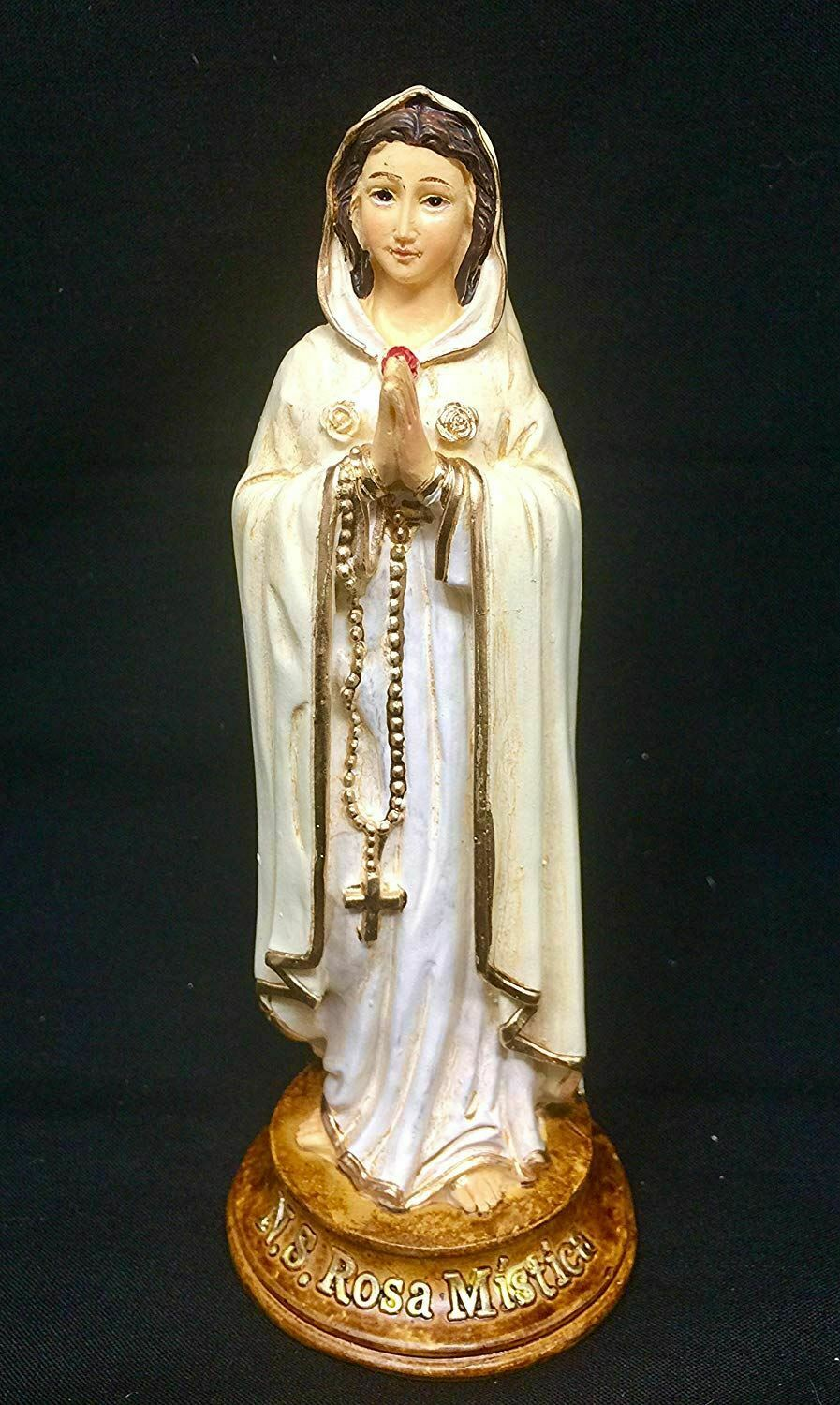 Rosa Mystica Mystic Rose Statue Mary Catholic Sculpture Religious Ornament