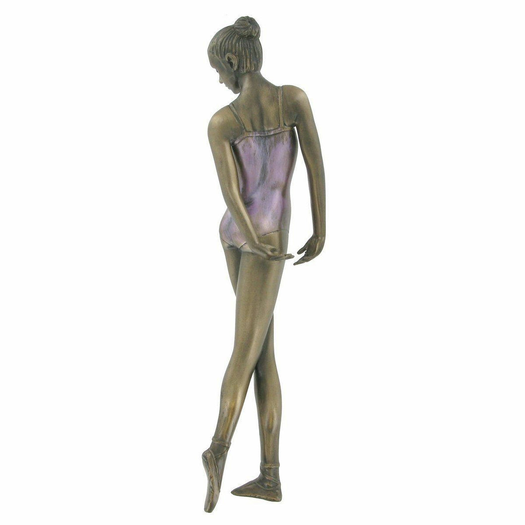 Art Deco Bronze Ballet Sculpture Wall Plaque Art Ballerina Home Decoration