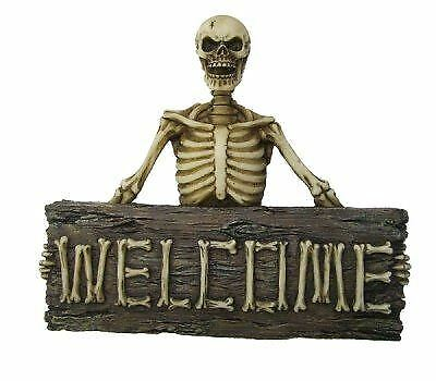 Boney Welcome Wall Plaque Skull Skeleton Gothic Decor