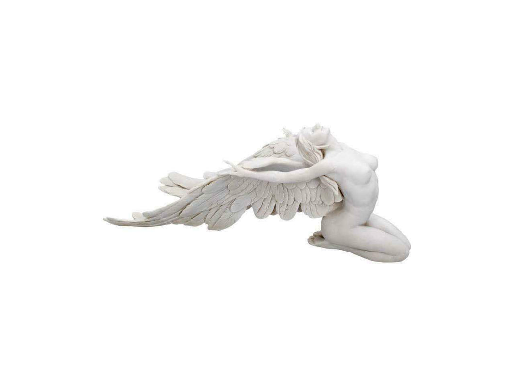 Seductive Angel Wings Sculpture Figurine Statue Angelic Ornament