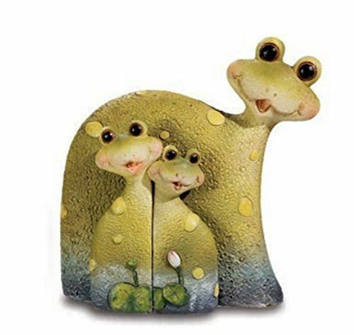 Novelty Comical Green Frog Family Figurine Ornament