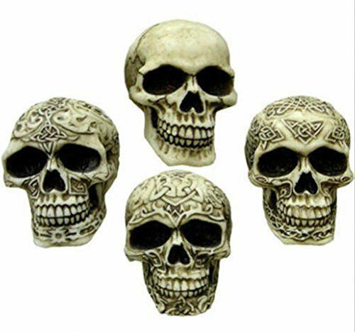 Nemesis Now Bone Sinister Smiles Celtic Small Gothic Skull Halloween Ornament