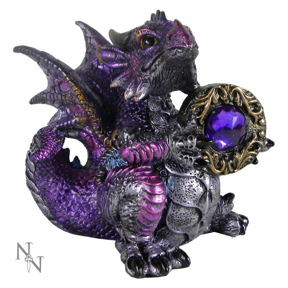 Nemesis Now Amethyst Dragon Guardian of The Gem Figurine Ornament Figure